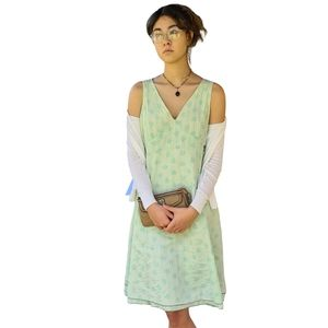 SkunkFunk ARGIA Cotton Green Midi Dress